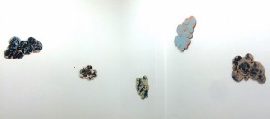 Cloud paintings by Ayse Erkmen,